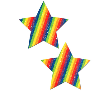 Pastease Glitter Rainbow Star Pasties
