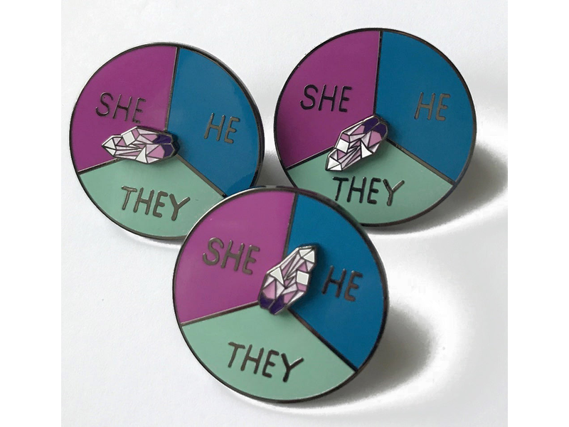NY Toy Collective NY Toy Collective Pronoun Pin