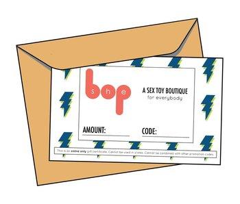 She Bop Online Gift Certificate
