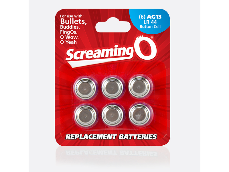 Screaming O Screaming O AG13 Button Cell Batteries (Pack of 6)
