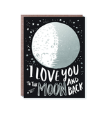 """""""To The Moon"""" Hello Lucky Gift Card"""