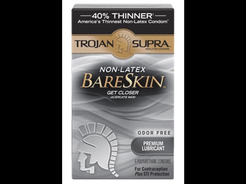 Trojan Supra Microsheer Lubricated Polyurethane Condoms