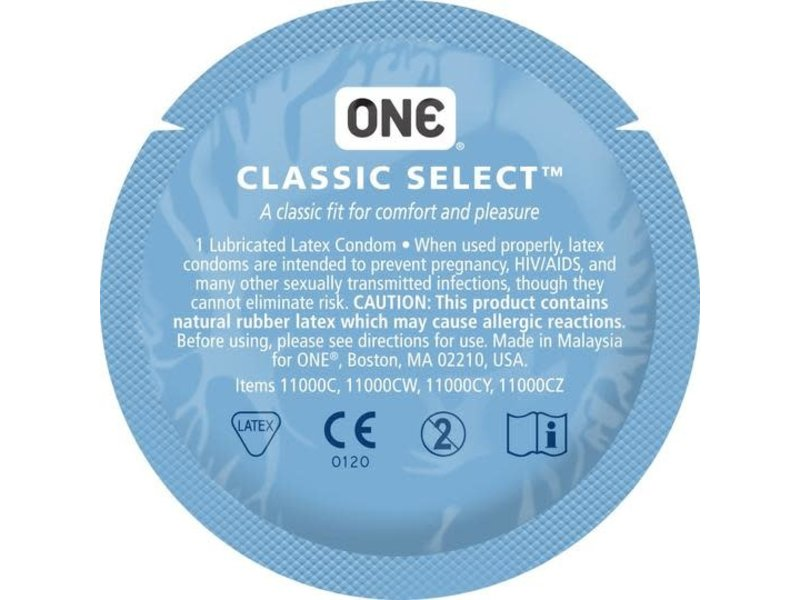 ONE Classic Select Condom - Artist Collection