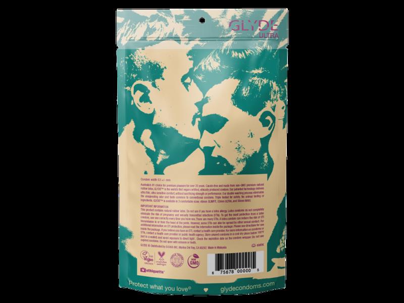 Glyde Ultra Thin Condoms (12 pack)