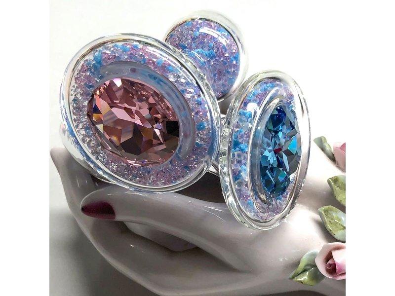 Crystal Delights Trans Pride Sparkle Plug