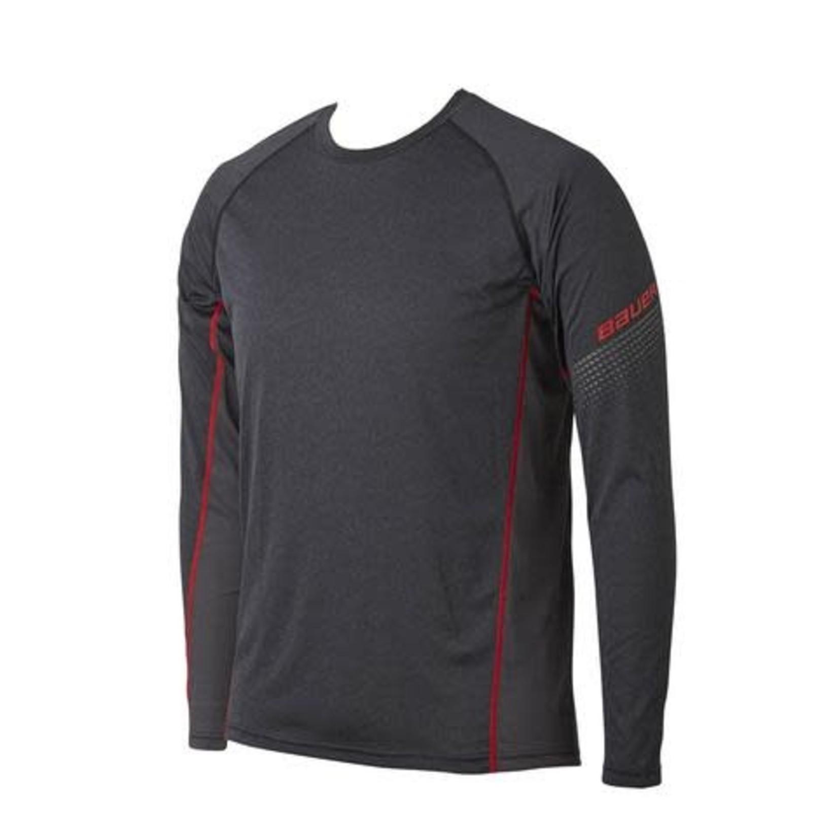 Bauer Bauer Long Sleeve Shirt, Essential Baselayer Top, Senior
