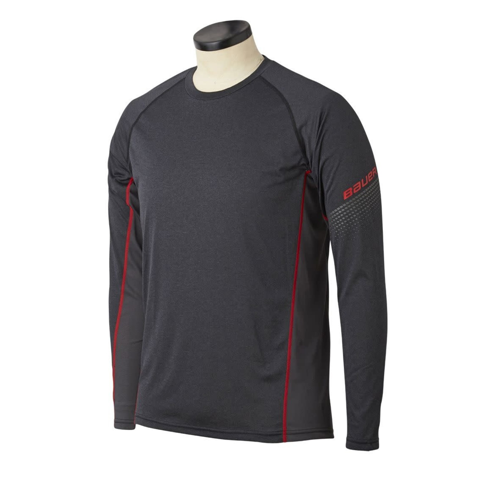 Bauer Bauer Long Sleeve Shirt, Essential Baselayer Top, Youth