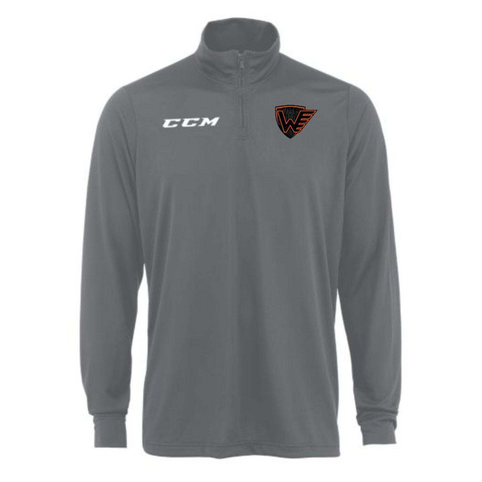 CCM CCM Long Sleeve Shirt, Team Tech 1/4 Zip Winkler Flyers, Mens