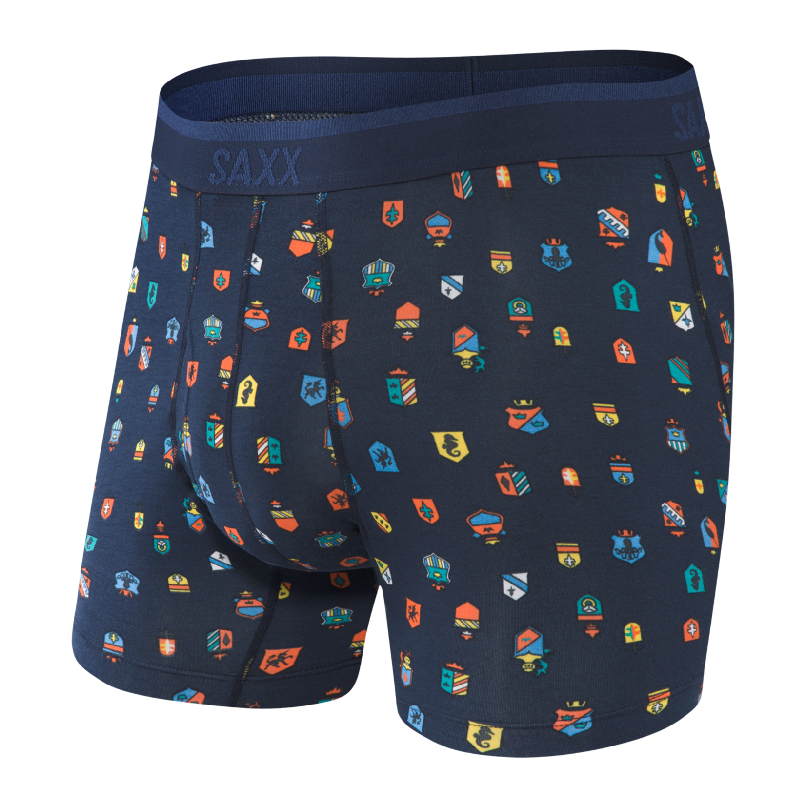 Saxx Saxx Underwear, Platinum Boxer Brief Fly, Mens, FJN-Nvy Family Jewels