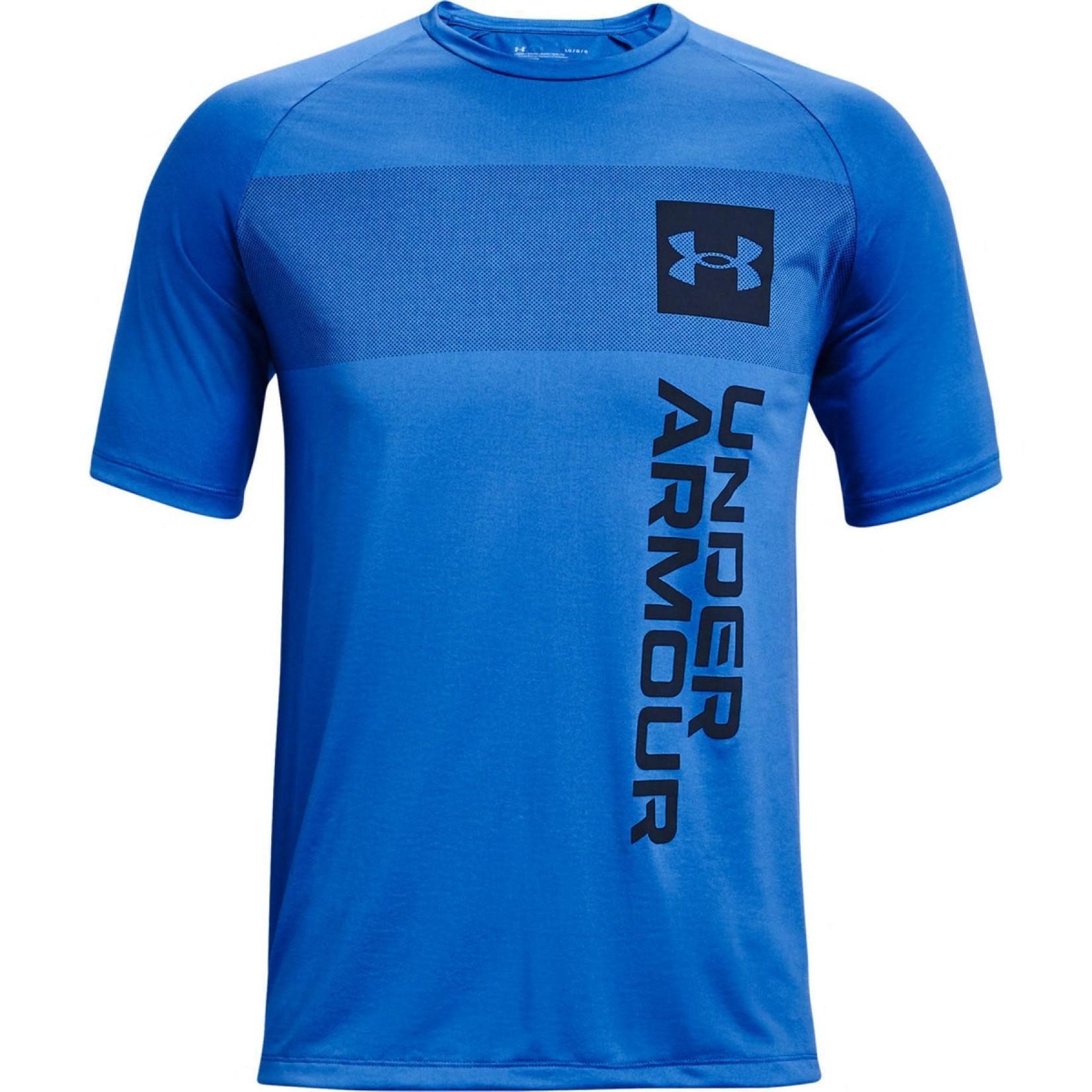 Under Armour Under Armour T-Shirt, Tech 2.0 Vertical Wordmark, Mens
