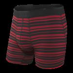 Saxx Saxx Underwear, Platinum Boxer Brief Fly, Mens, BRT-Blk/Red Tidal Stripe