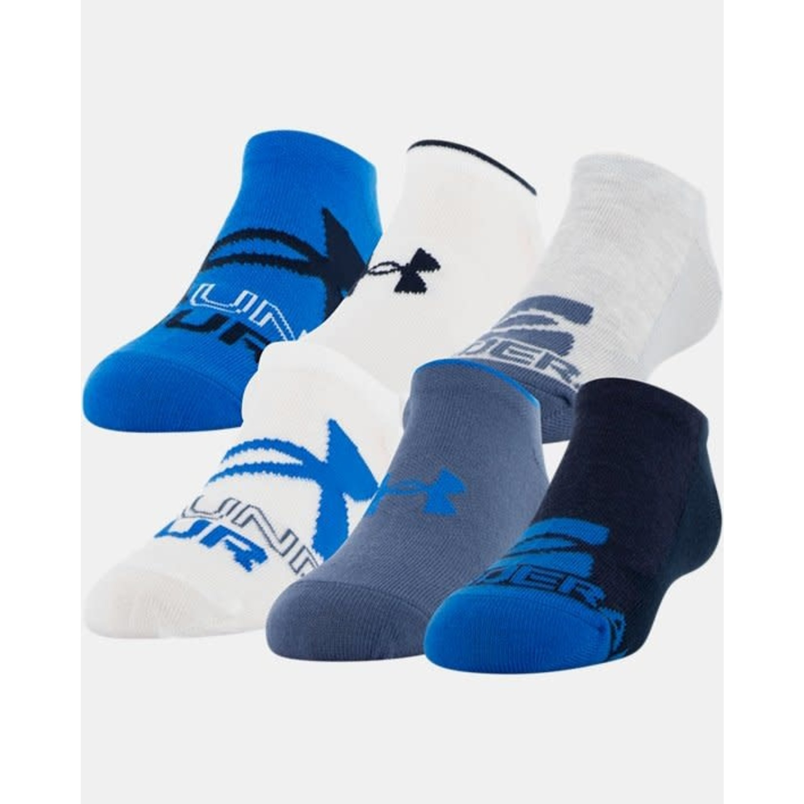 Under Armour Under Armour Socks, Essential Lite No Show, 6-Pack, Youth