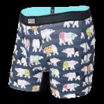 Saxx Saxx Underwear, Hot Shot BB Fly, Mens, PBR-Nvy Polarbear Resortwear