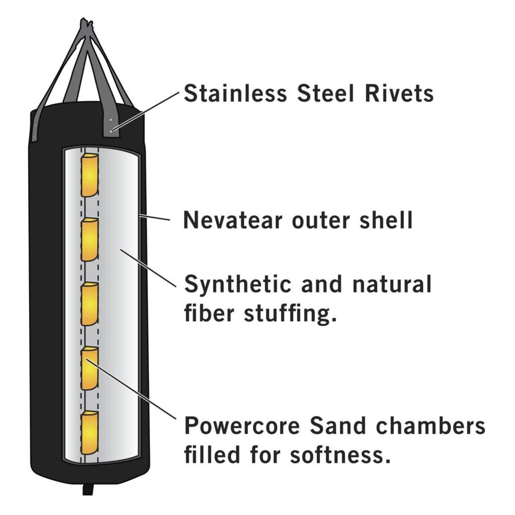 Everlast Everlast Heavy Bag, Powercore Nevatear, Blk, 100 lb