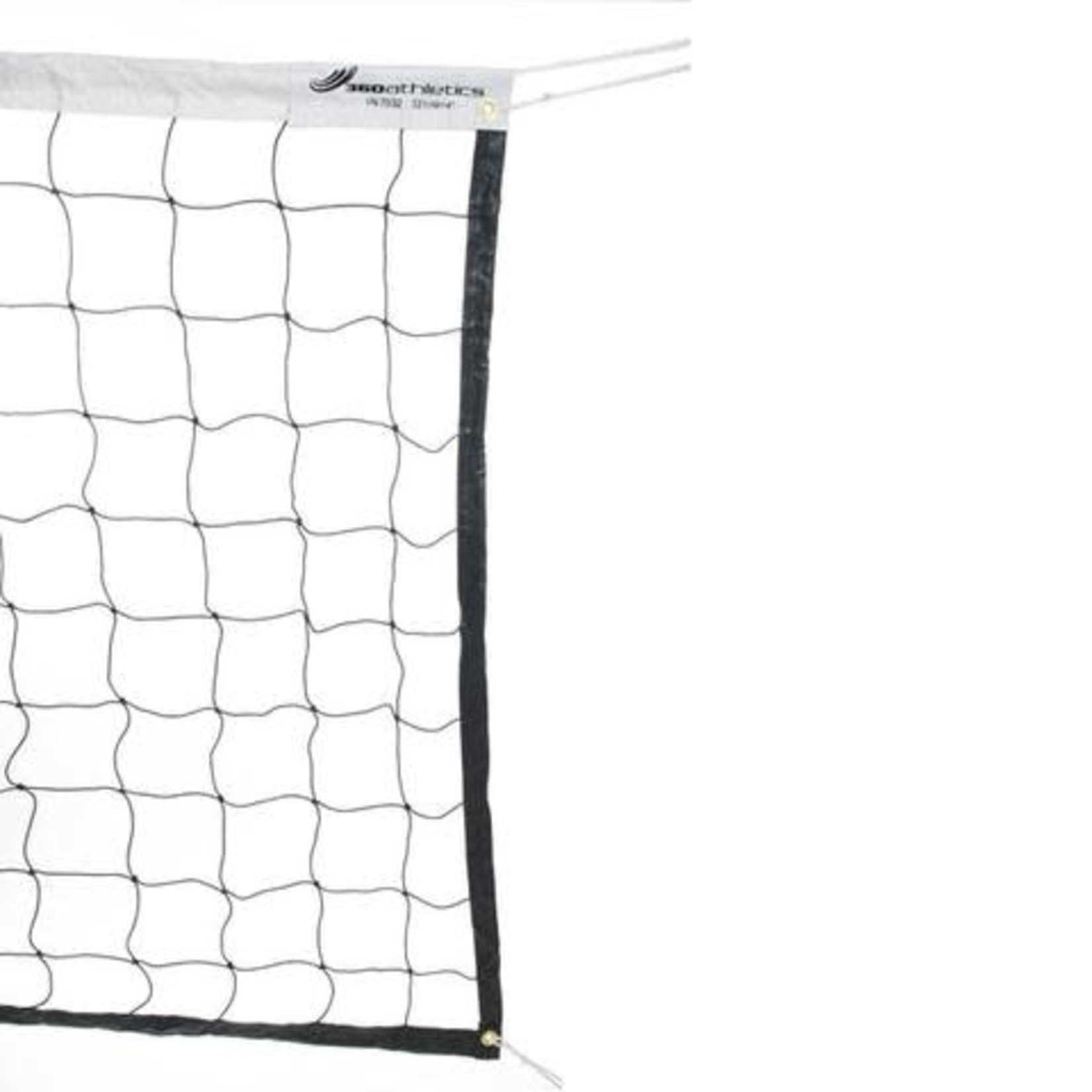 """360 Athletics Volleyball Net, 32' X 1M X 4"""", Cable, Wht"""