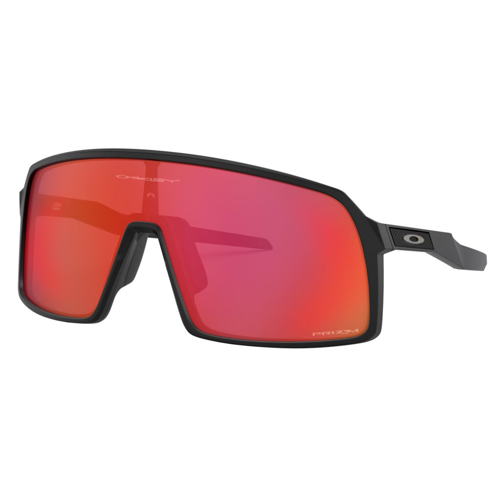 Oakley Oakley Sunglasses, Sutro, Matte Blk, Prizm Trail Torch