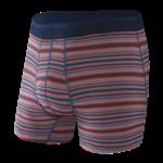 Saxx Saxx Underwear, Platinum Boxer Brief Fly, Mens, MSB-Blu Mirage Stripe