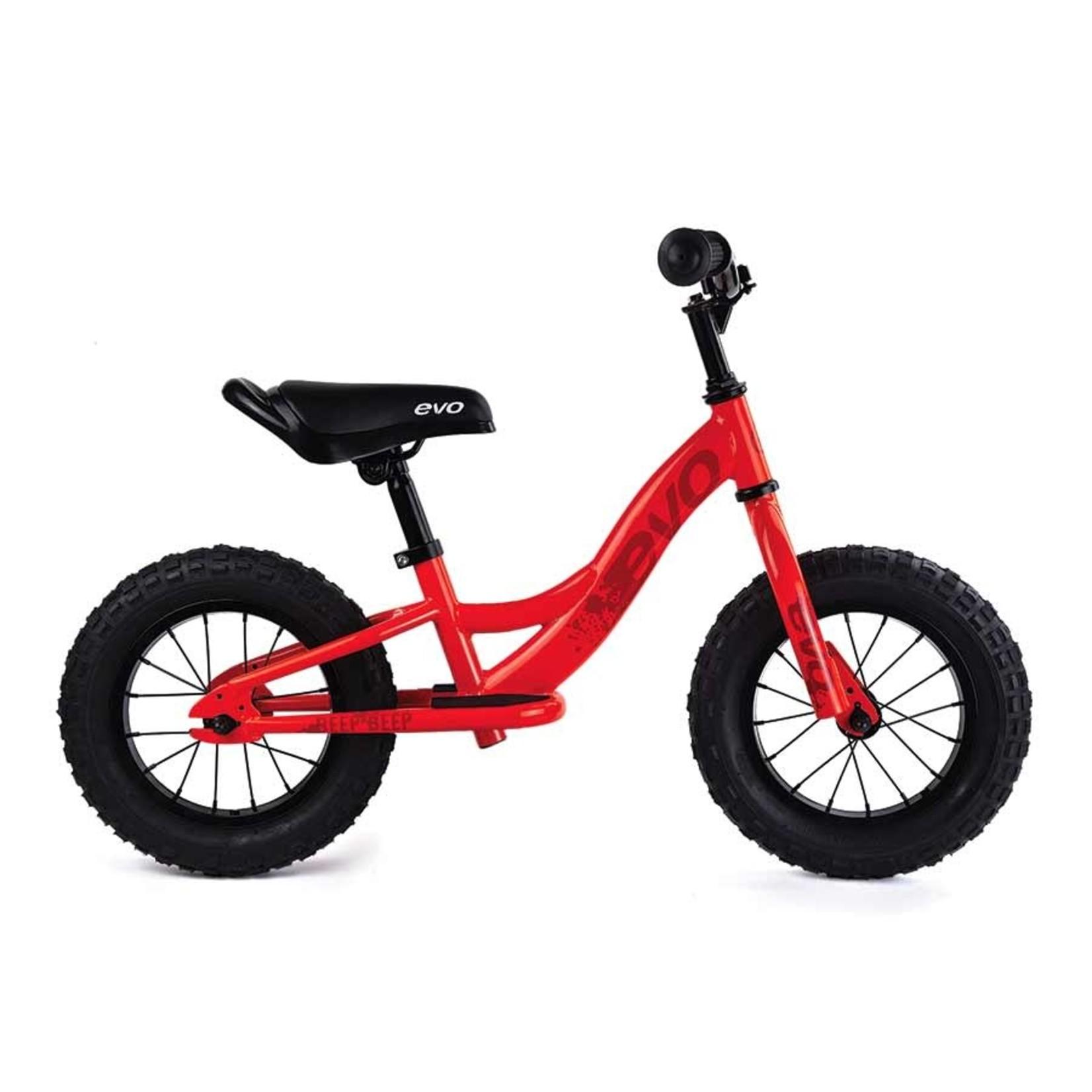 Evo Evo Balance Bike, Beep Beep, Org Peel/Red, Kids