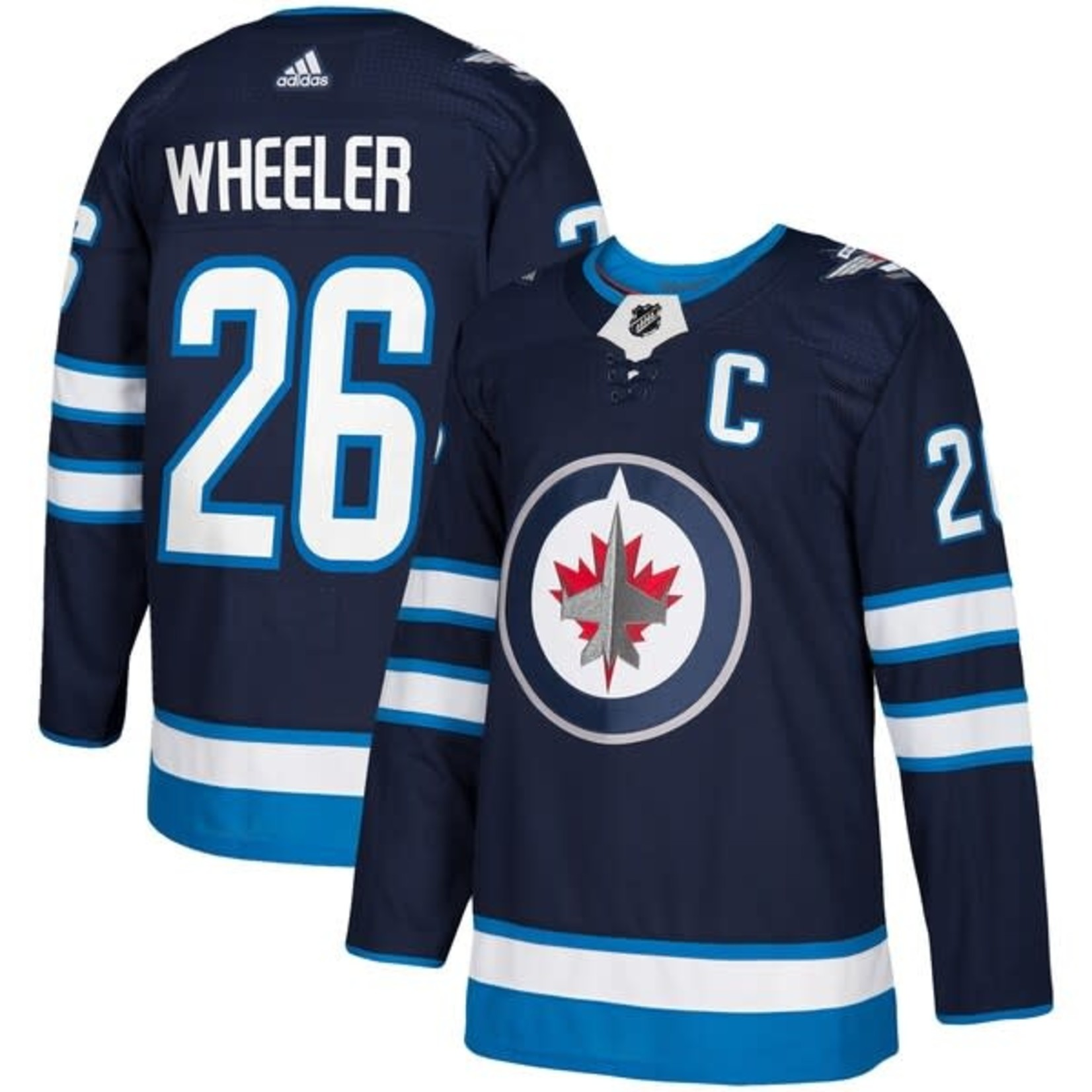 Adidas Adidas Hockey Jersey, Authentic, Mens, NHL, Winnipeg Jets, Home, Blake Wheeler