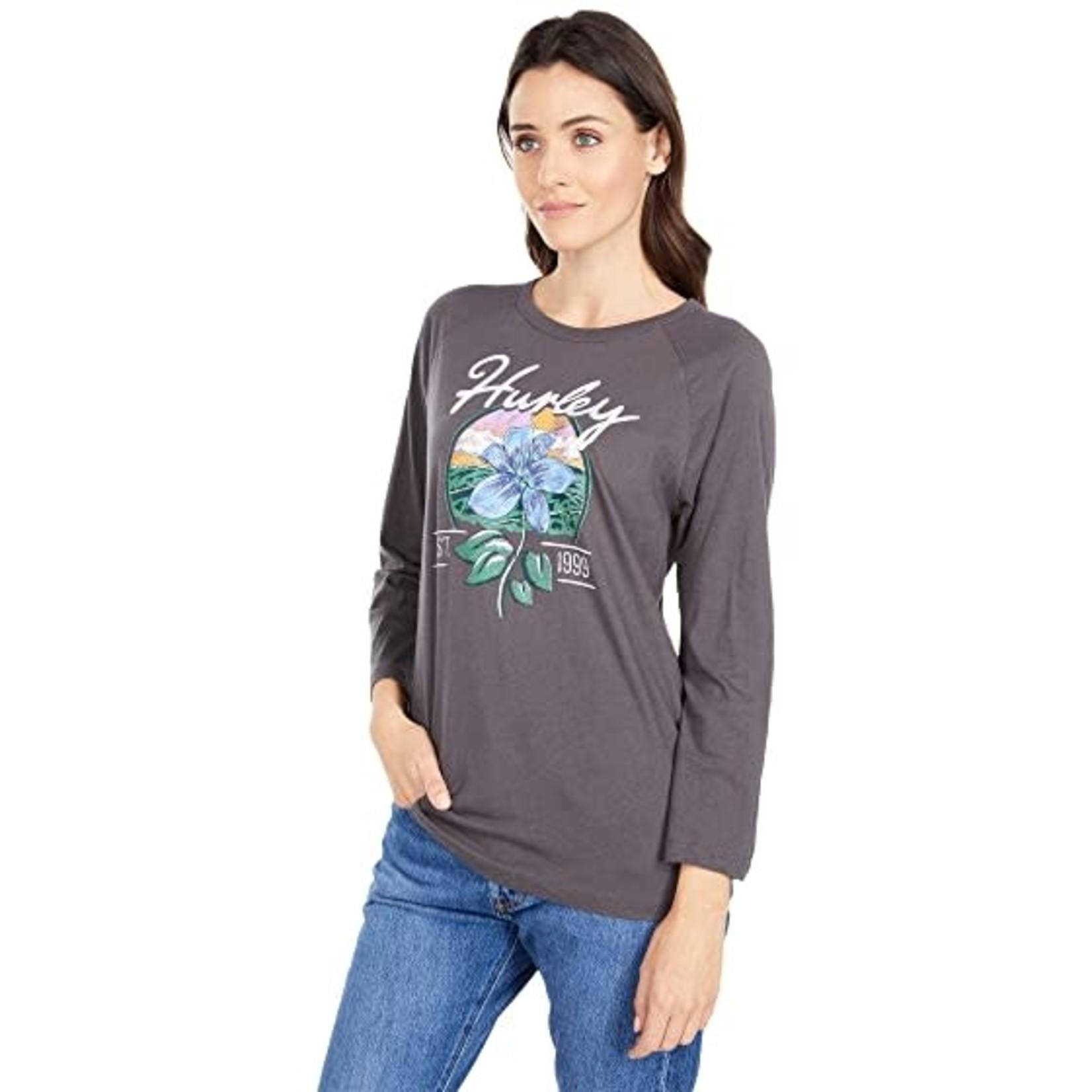 Hurley Hurley 3/4 Sleeve T-Shirt, Leila Raglan, Ladies