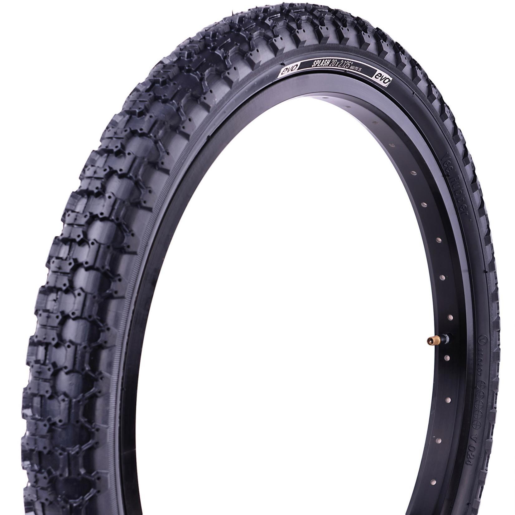 "Evo Evo Bike Tire, Splash, 12"" X 2.25"", Wire, Clincher"