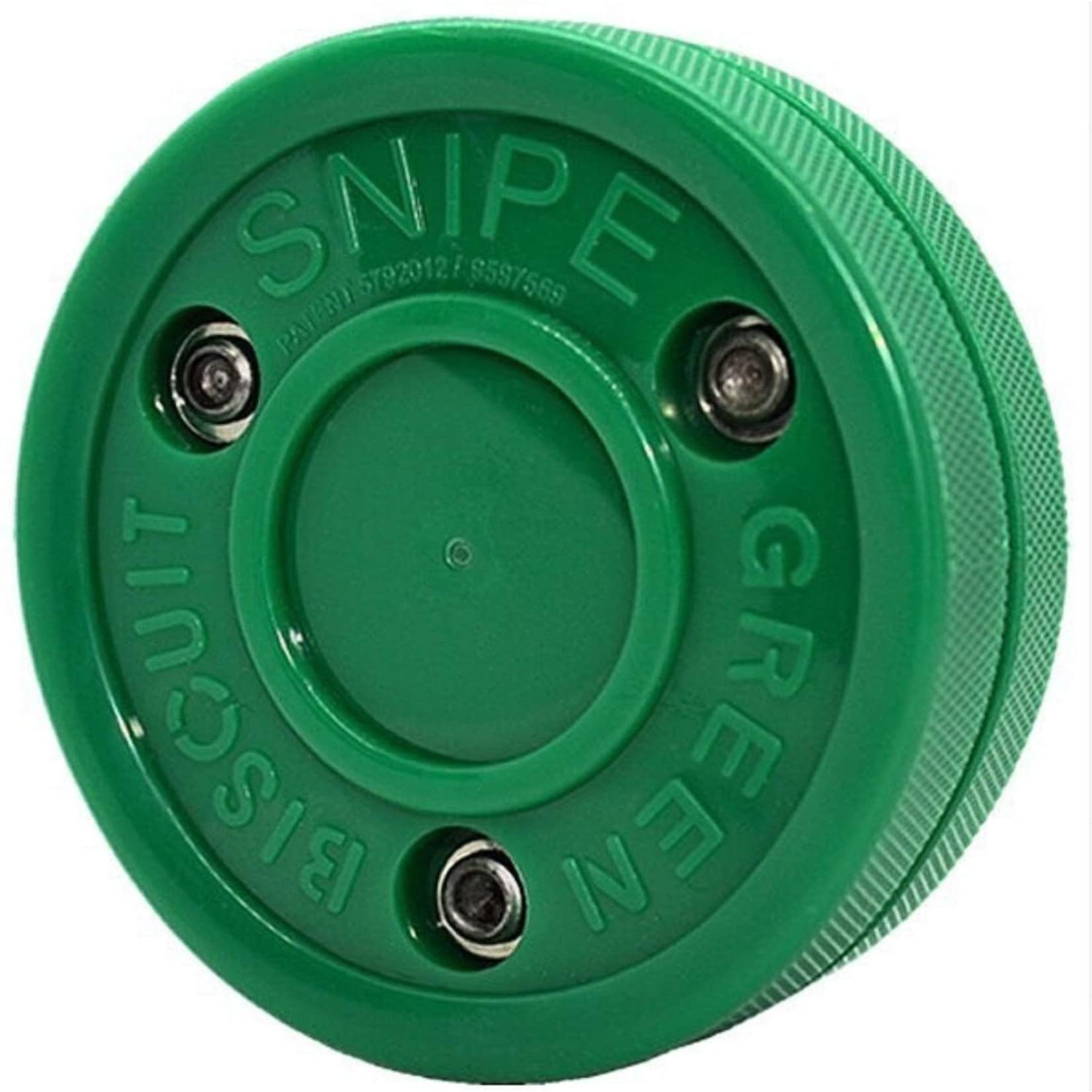 Green Biscuit Hockey Training Puck, Snipe