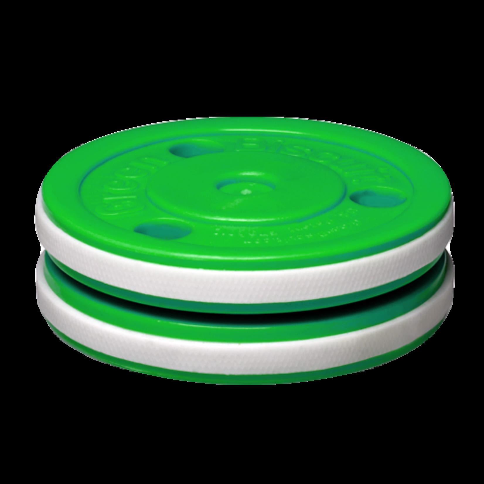 Green Biscuit Hockey Training Puck, Pro