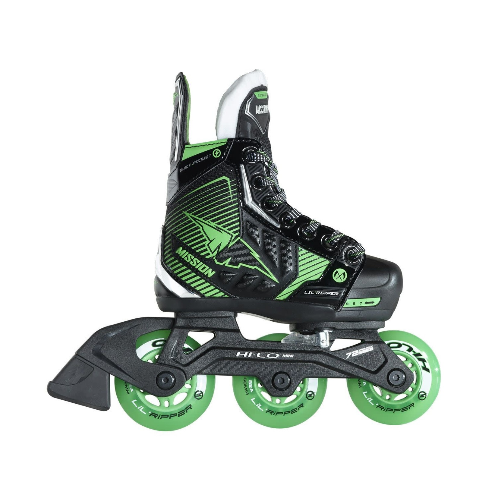 Mission Roller Hockey Skates, RH Lil' Ripper Adjustable, Youth