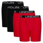 Under Armour Under Armour Underwear, Cotton Boxer Brief Set, 4-Pack, Boys