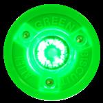 Green Biscuit Alien Hockey Puck, Glow in the Dark, Grn