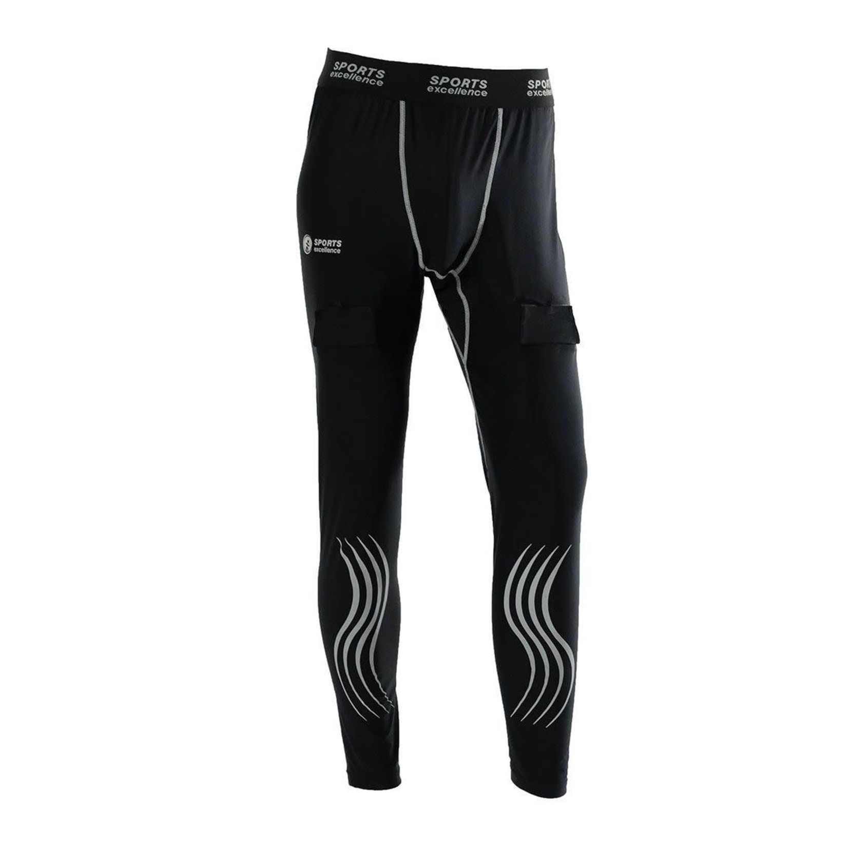Sports Excellence SEC Compression Jock Pants, TI50 Gel, Youth