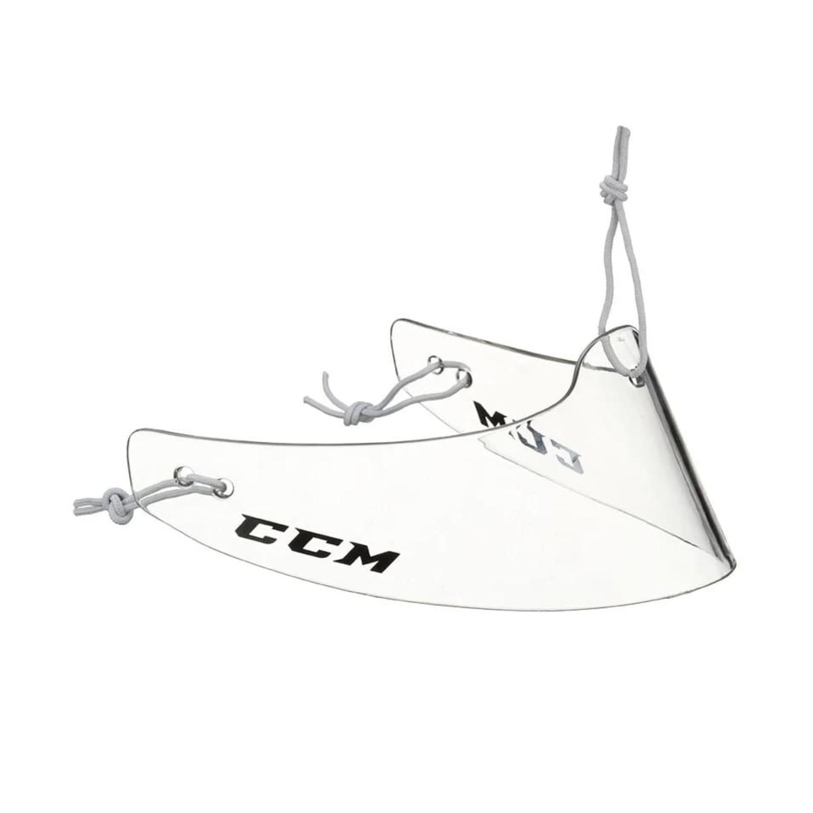 CCM CCM Throat Protector, Lexan Clear OS