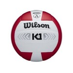 Wilson Wilson Volleyball, K1 Silver, Red/Wht