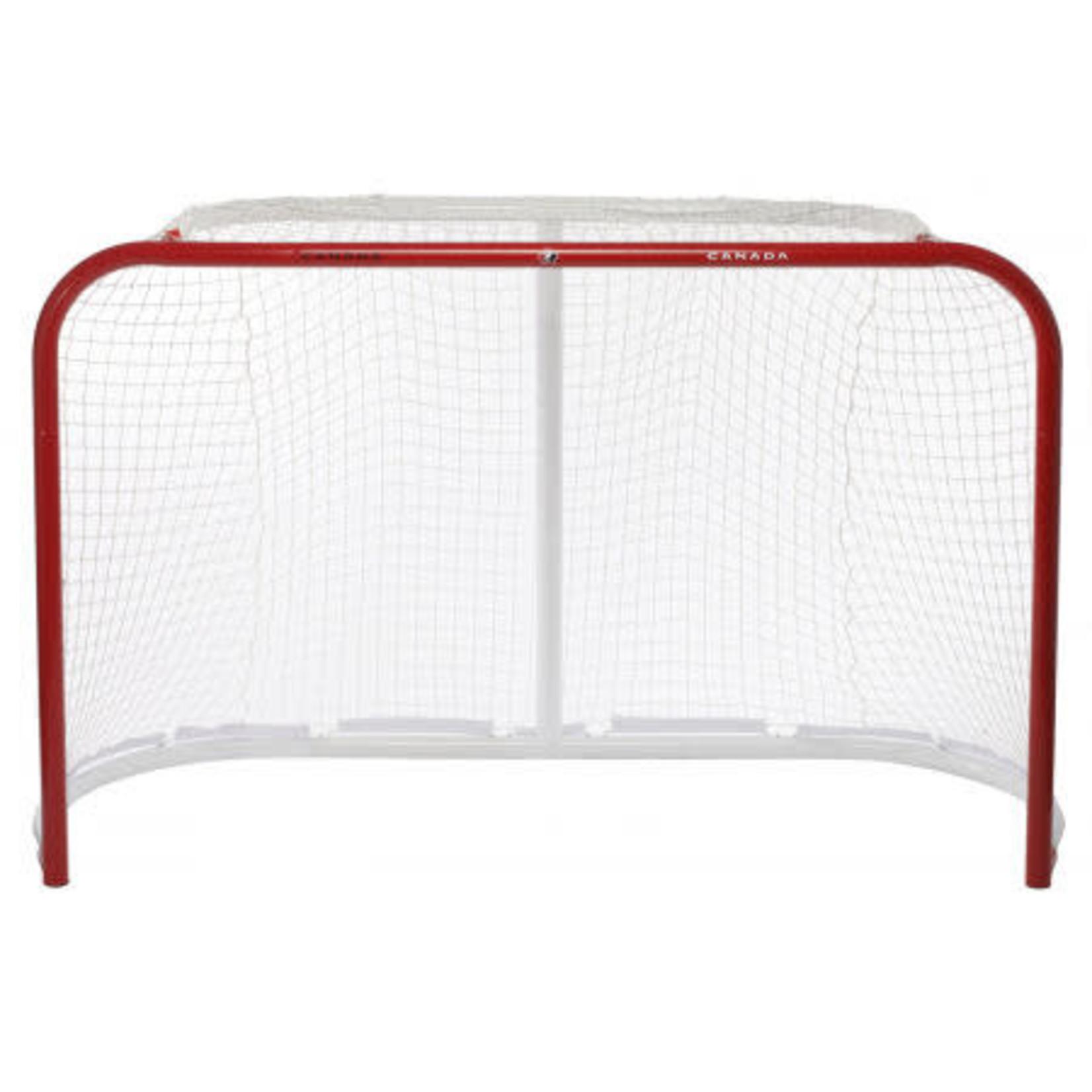 """Hockey Canada Hockey Canada Hockey Net, Pro Steel Regulation, 72"""" w/ 2"""" Posts & Quiknet Mesh"""