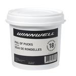 Winnwell Winnwell Hockey Puck Pail, 18-Pack