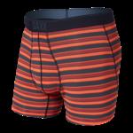 Saxx Saxx Underwear, Quest Boxer Brief Fly, Mens, SRS-Red Solar Stripe