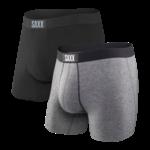 Saxx Saxx Underwear, Vibe Boxer, 2-Pack, Mens, BGP-Blk/Gry