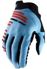100% 100 % - R-CORE Gloves Light Blue/Red L