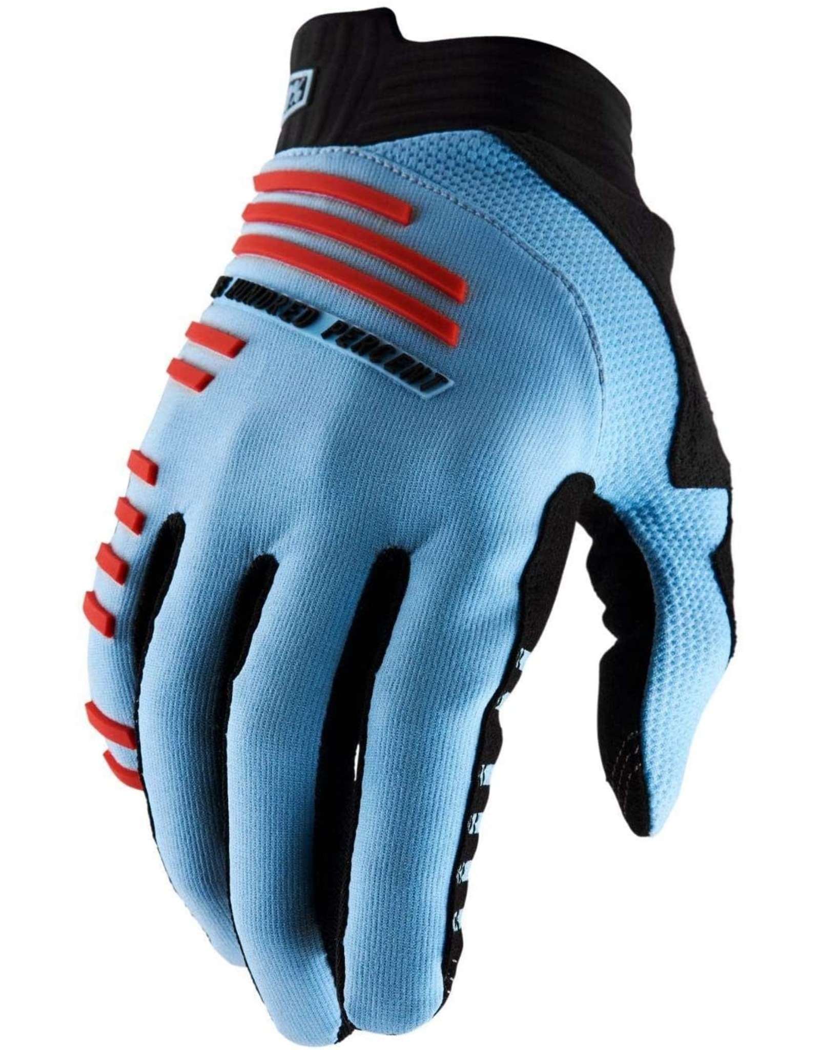 100% 100 % - R-CORE Gloves Light Blue/Red XL