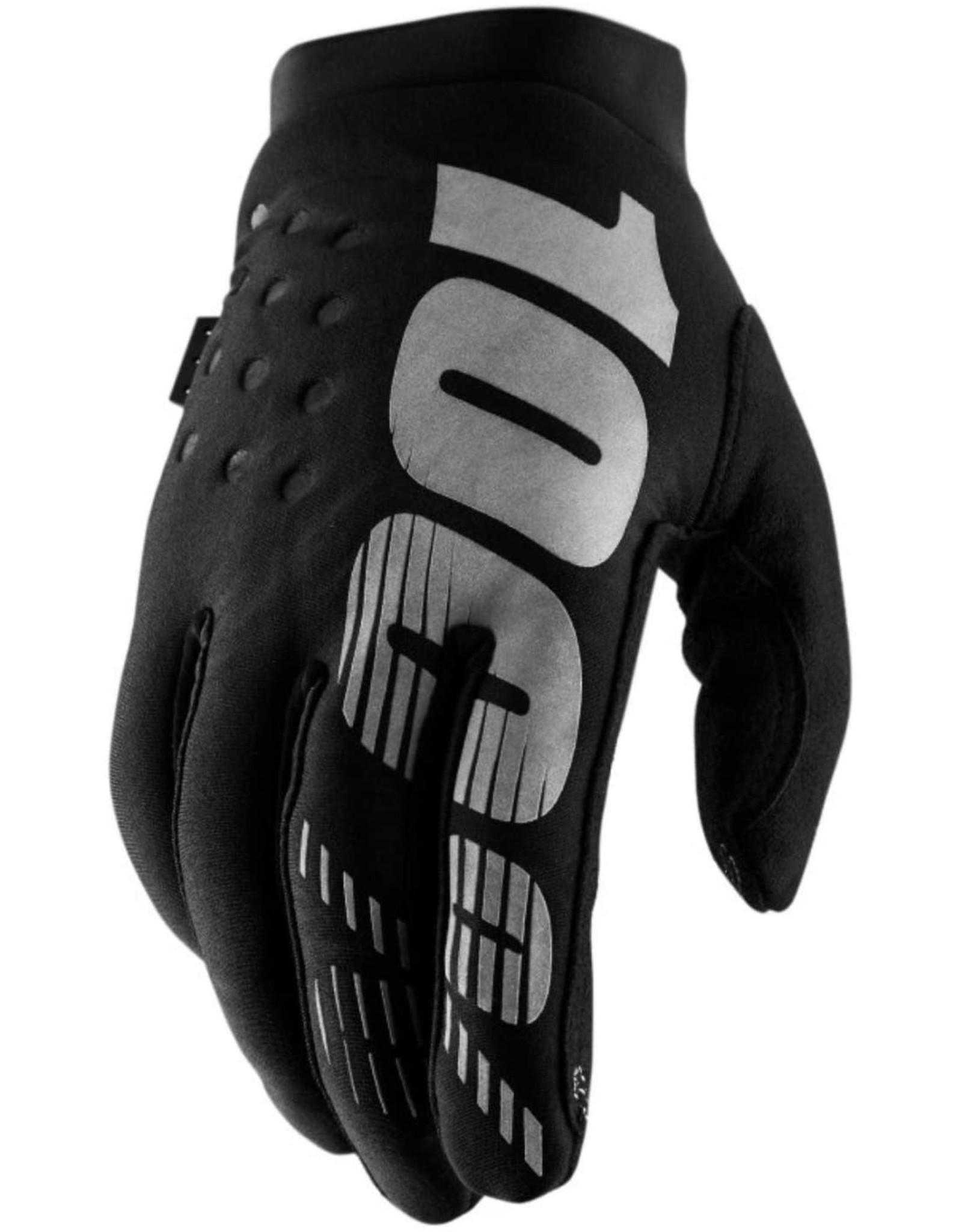 100% 100% - BRISKER  Glove Black/Grey S