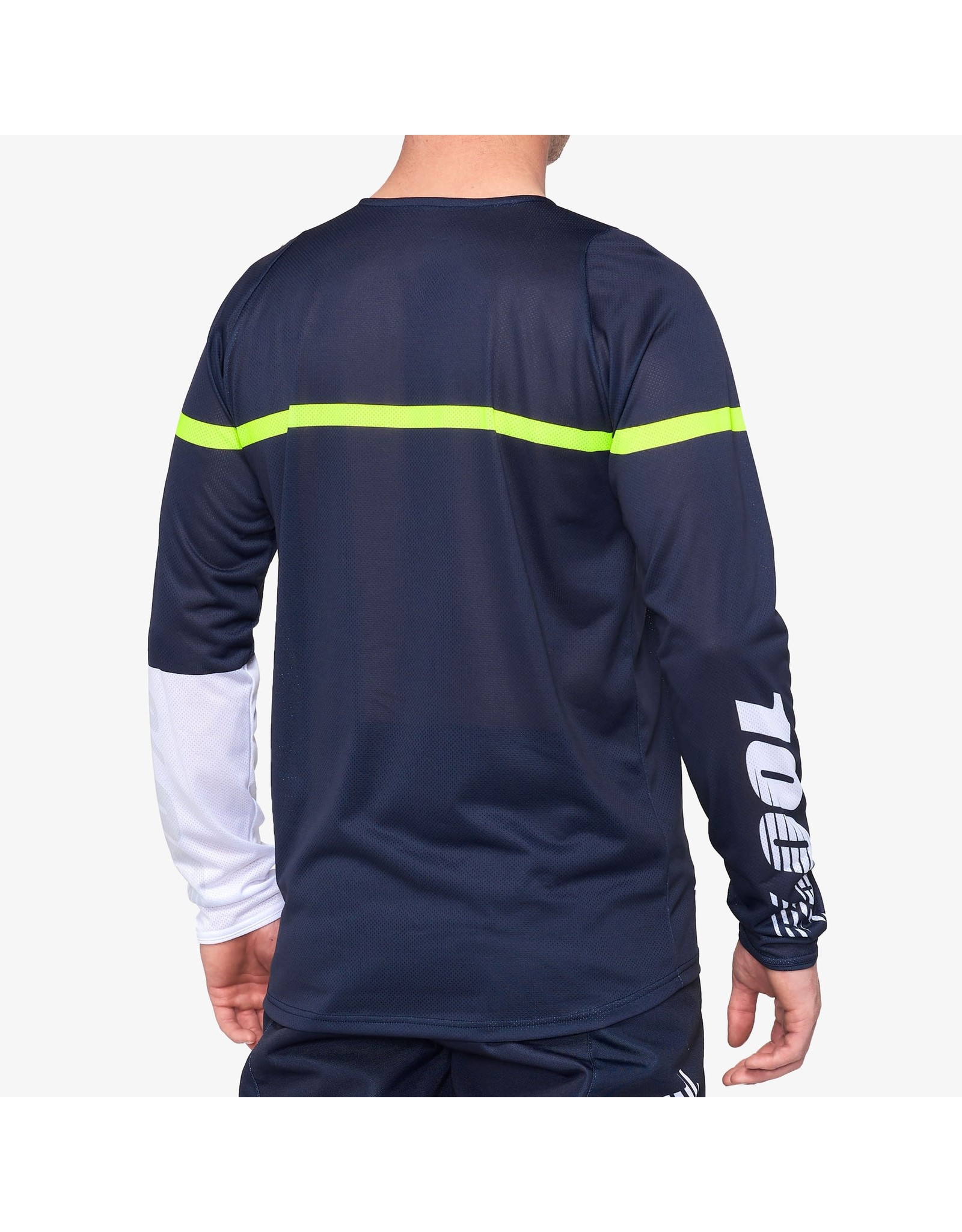 100% 100% - Men's R-CORE Jersey Dark Blue/Yellow - L