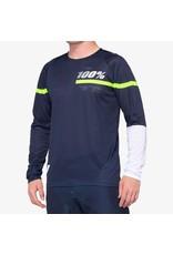 100% 100% - Men's R-CORE Jersey Dark Blue/Yellow - S