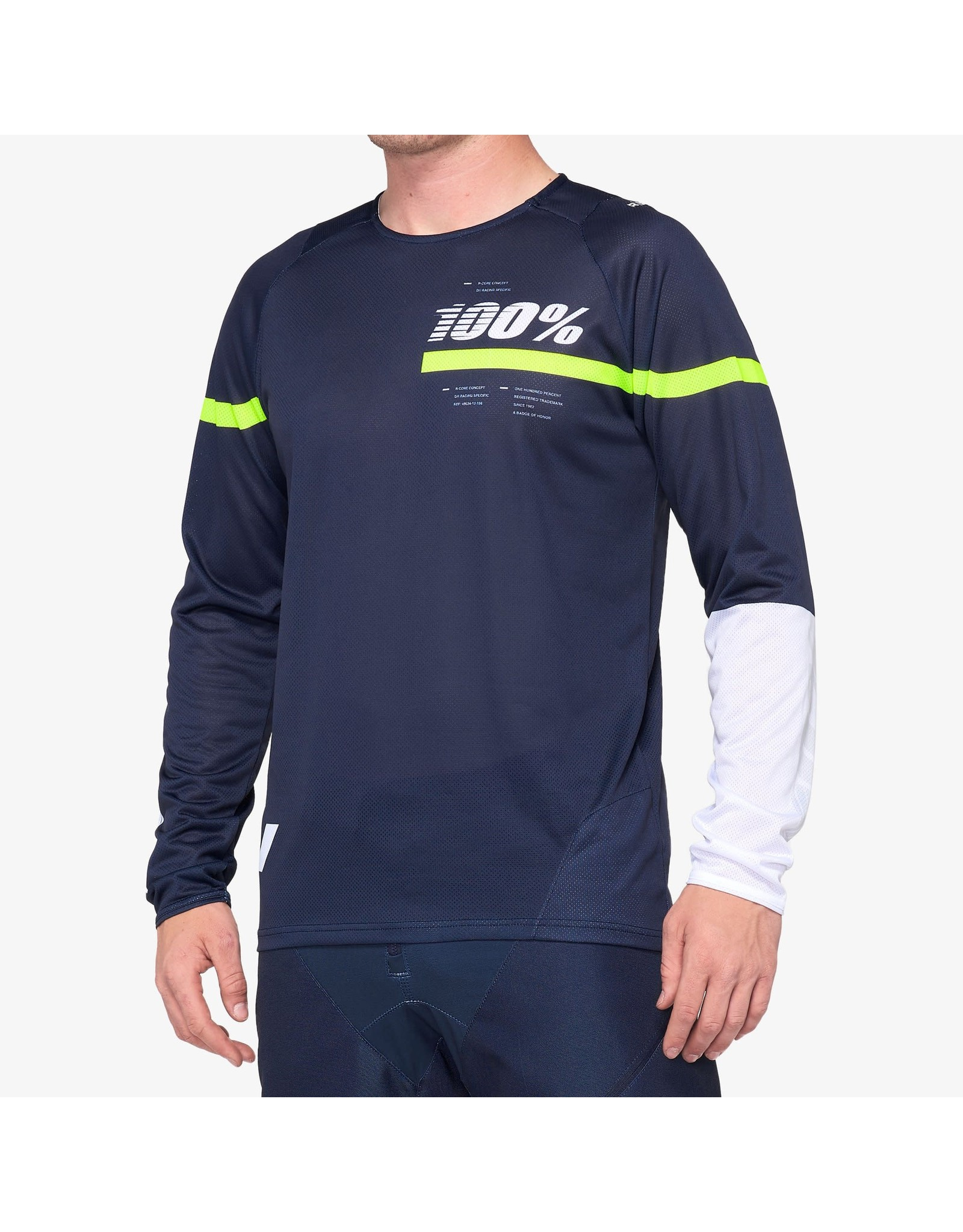 100% 100% - Men's R-CORE Jersey Dark Blue/Yellow - XL