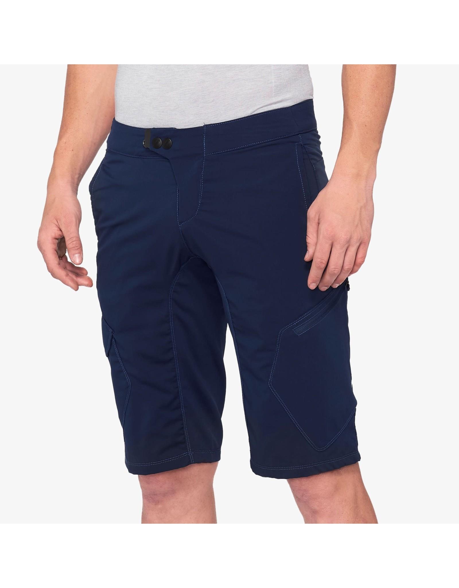 100% 100% - Men's RIDECAMP Shorts Navy - 38