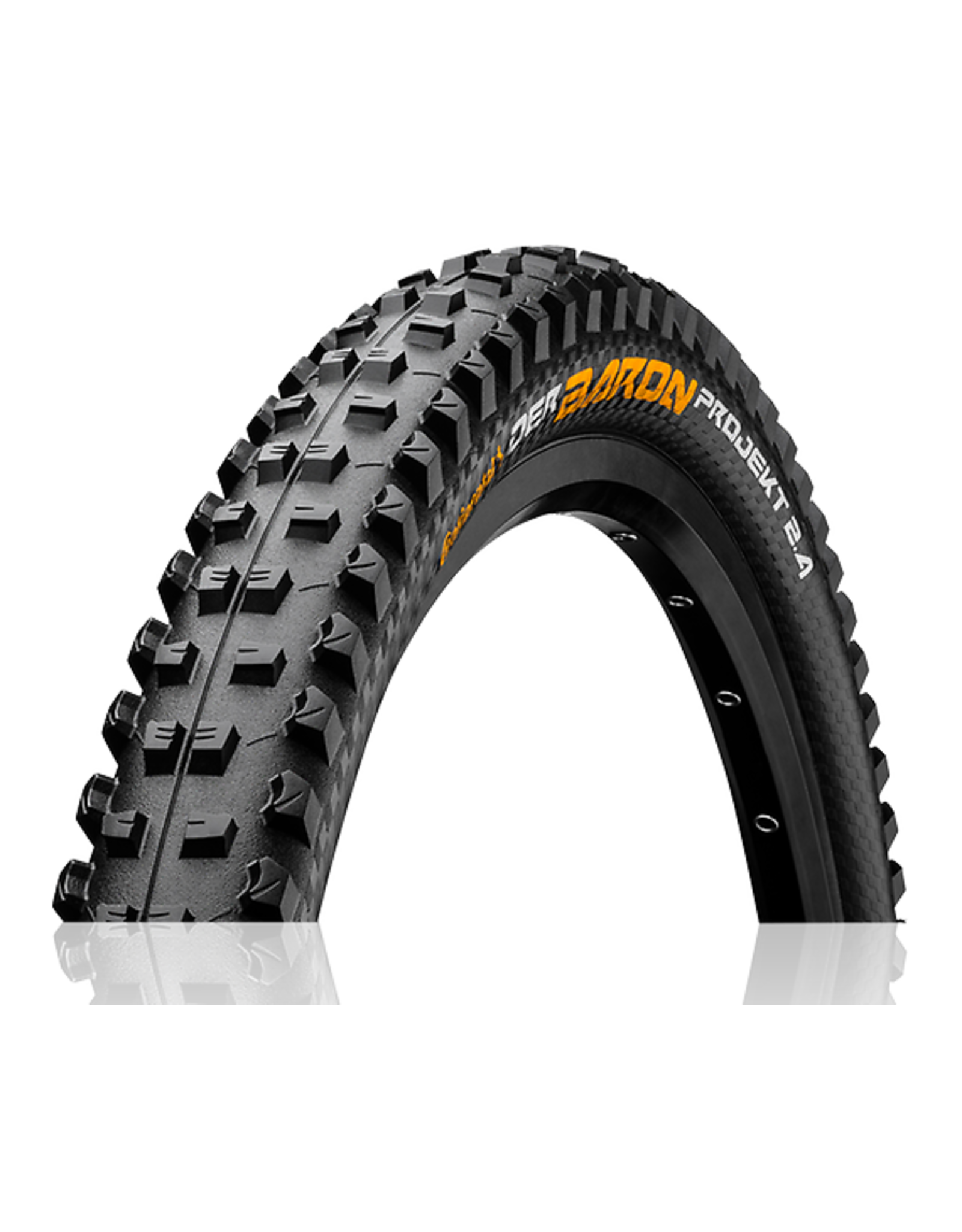 Continental Continental - DH/All Mountain Tires Der Baron Projekt 26 x 2.4 Folding ProTection APEX