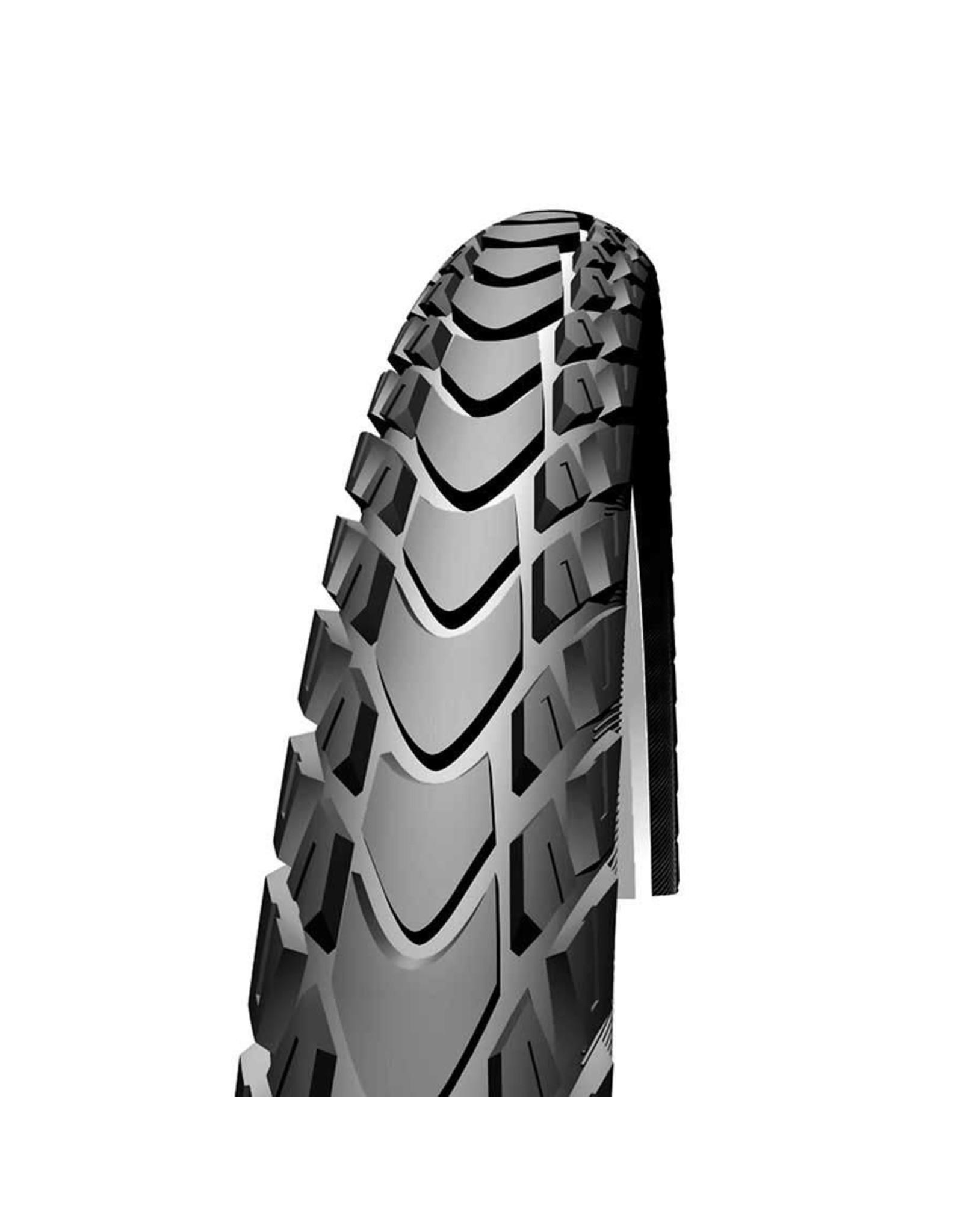 Schwalbe Schwalbe - Marathon Mondial Tire, 700x35C,Wire, Endurance, RaceGuard Black