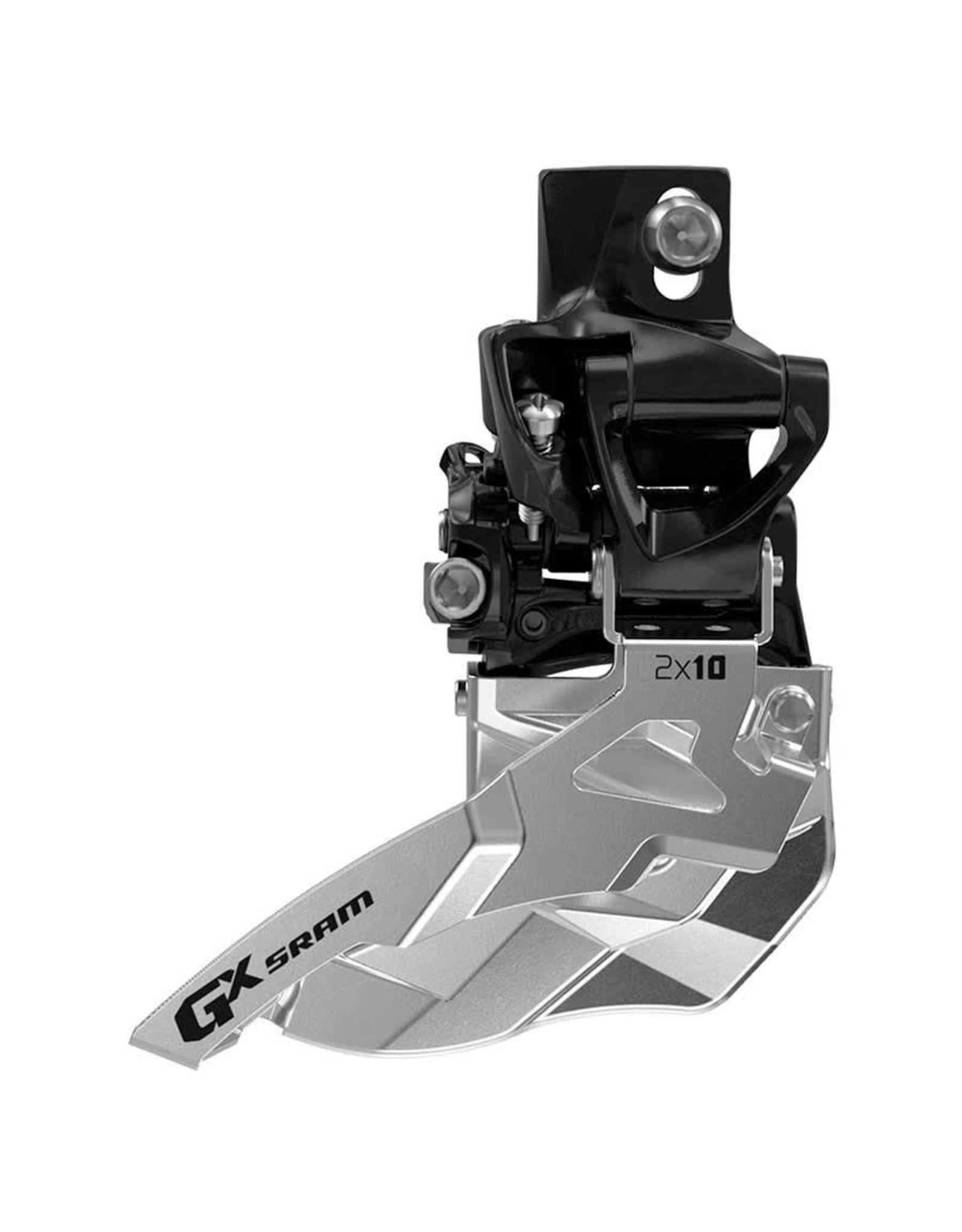 SRAM Sram -  GX 2x10, Front derailleur, 2X10sp, Top Swing, Dual Pull, Direct Clamp,