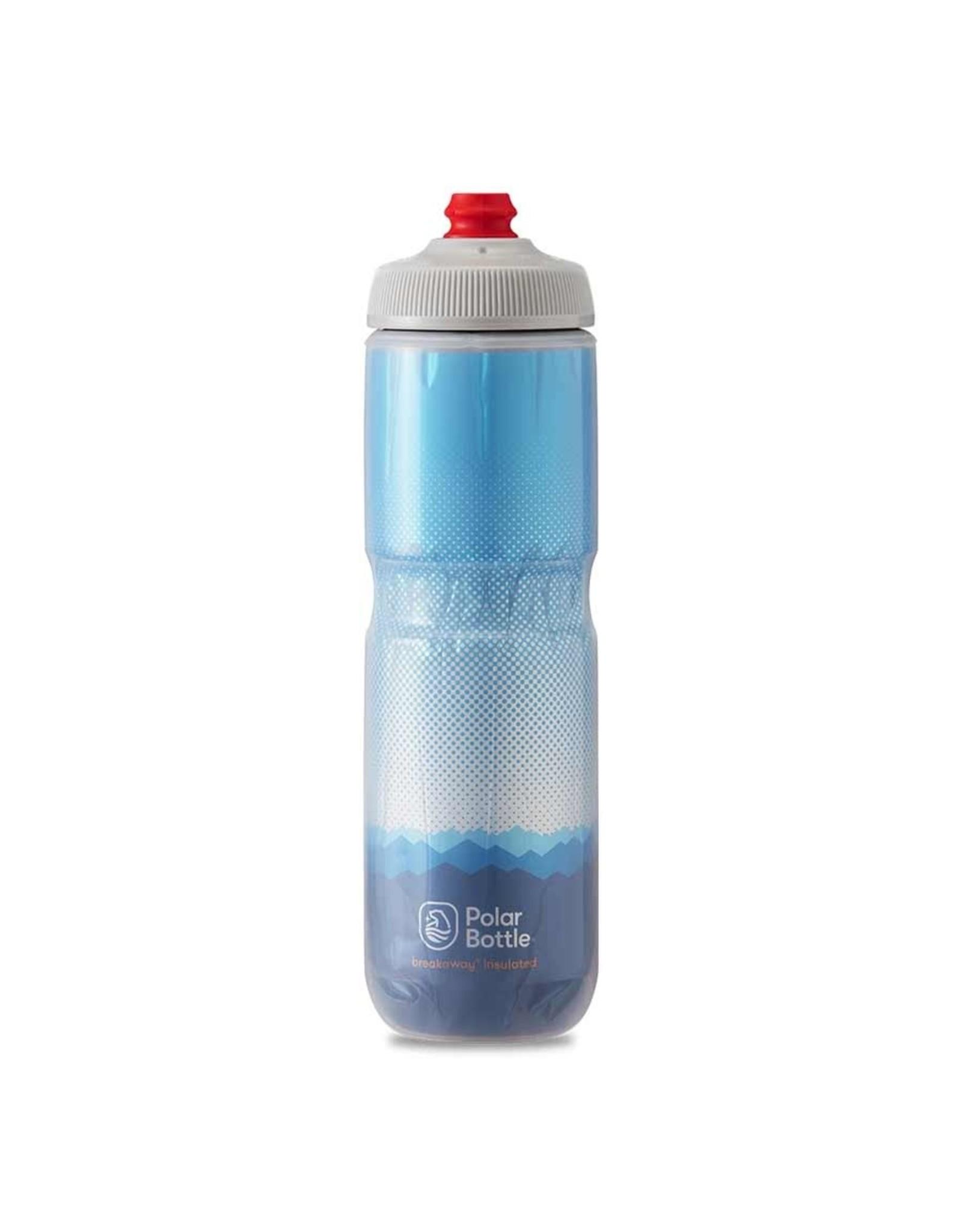 Polar Bottle Polar - Breakaway Insulated 24oz, Water Bottle, 710ml / 24oz, Cobalt Blue/Silver