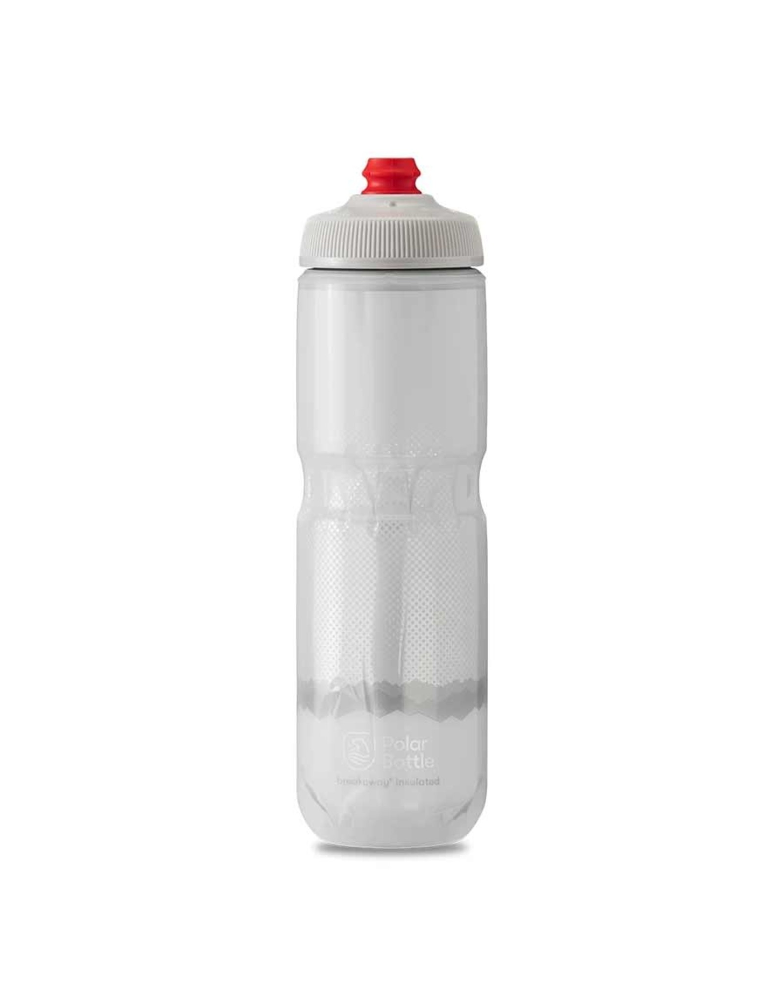 Polar Bottle Polar - Breakaway Insulated 24oz, Water Bottle, 710ml / 24oz, White/Silver