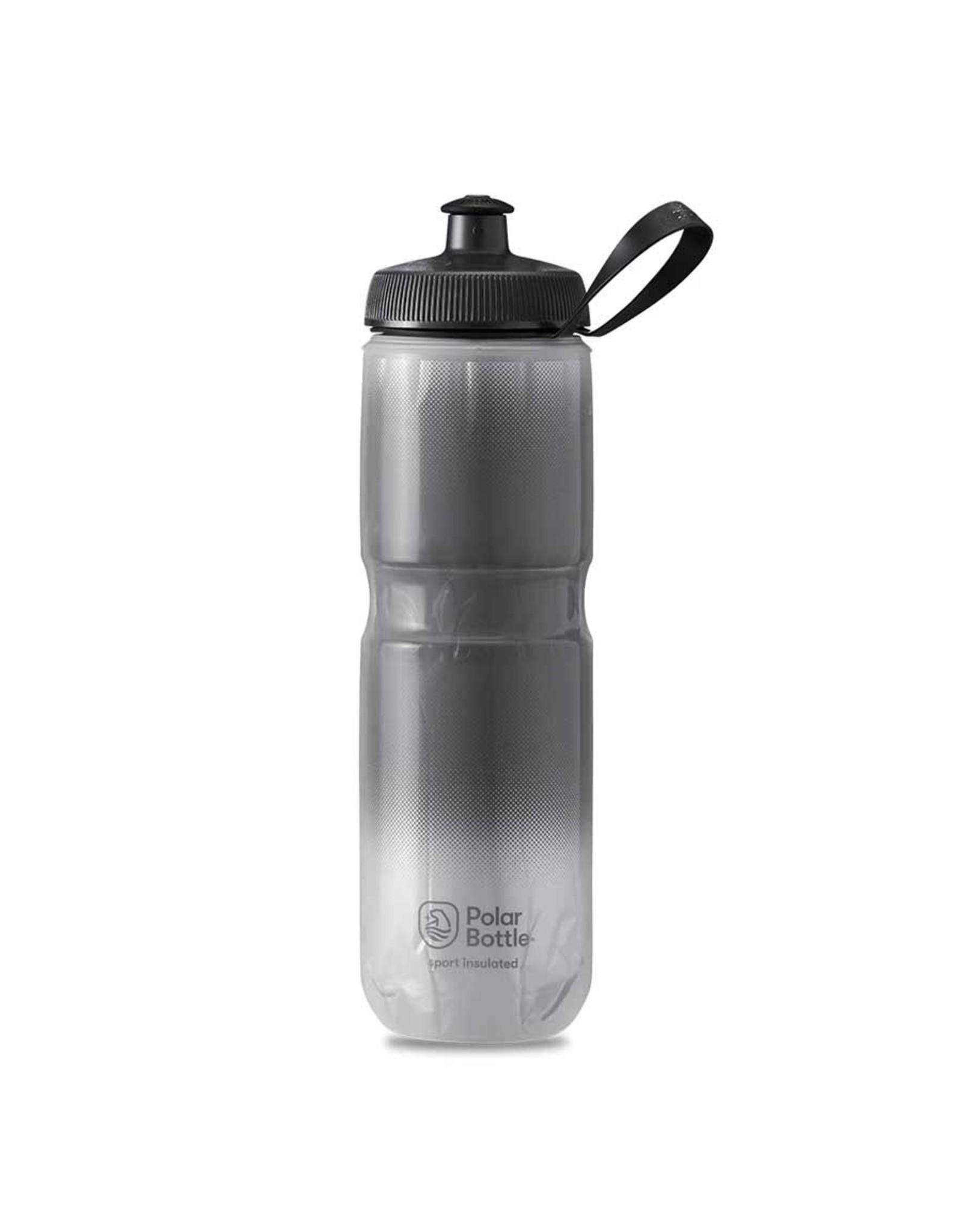 Polar Bottle Polar - Sport Insulated 24oz, Water Bottle, 710ml / 24oz, Charcoal/Silver